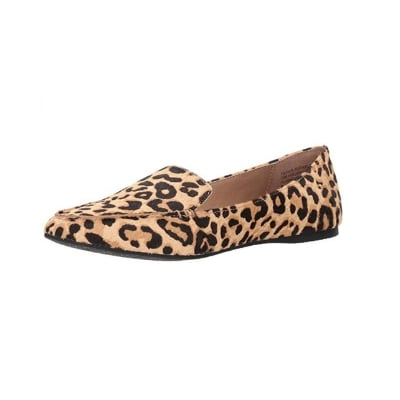 leopard print loafers