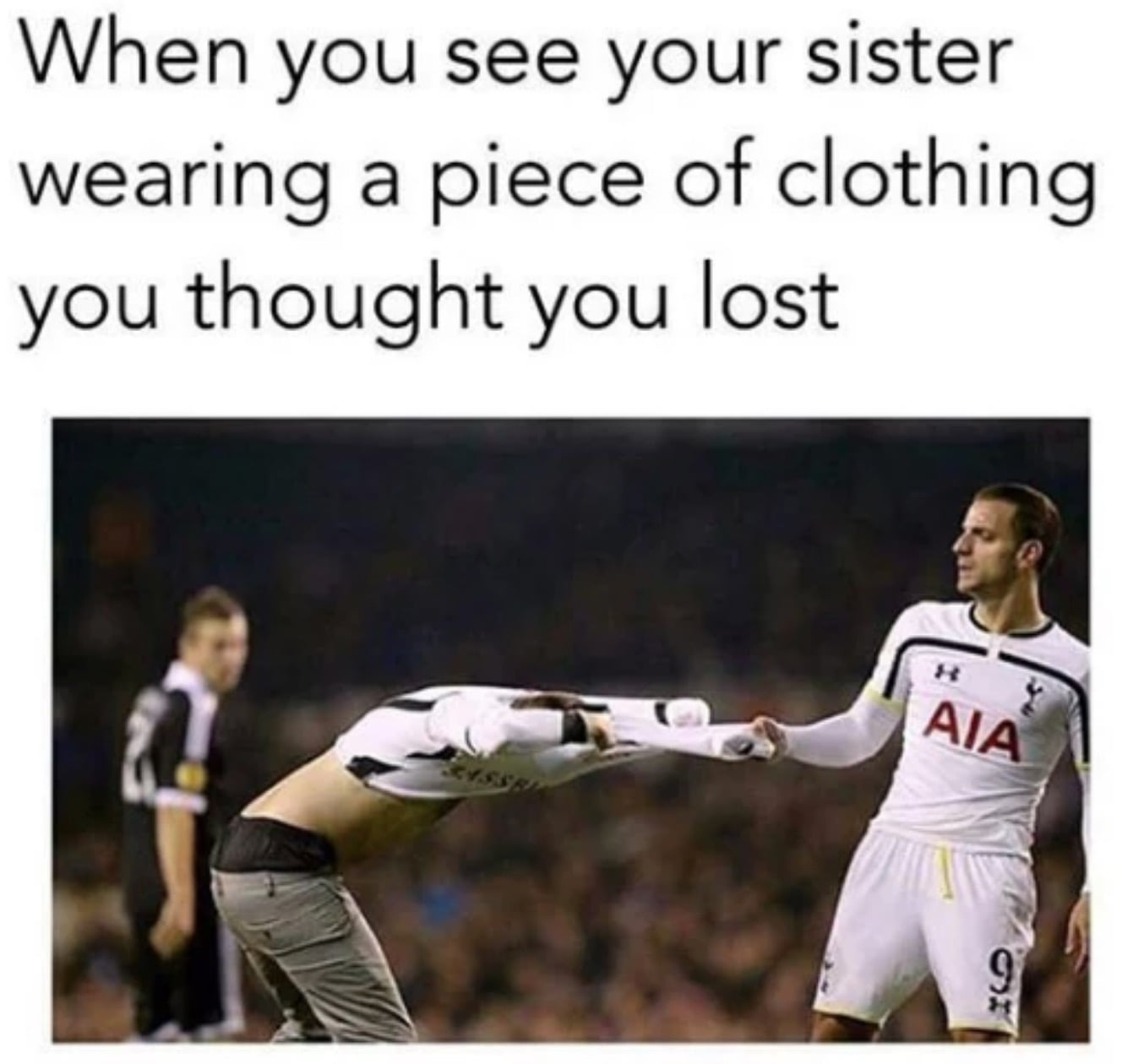 fighting sister clothes meme