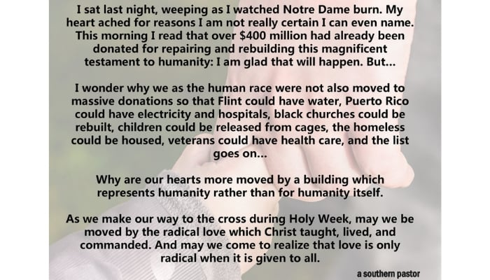 notre dame donations