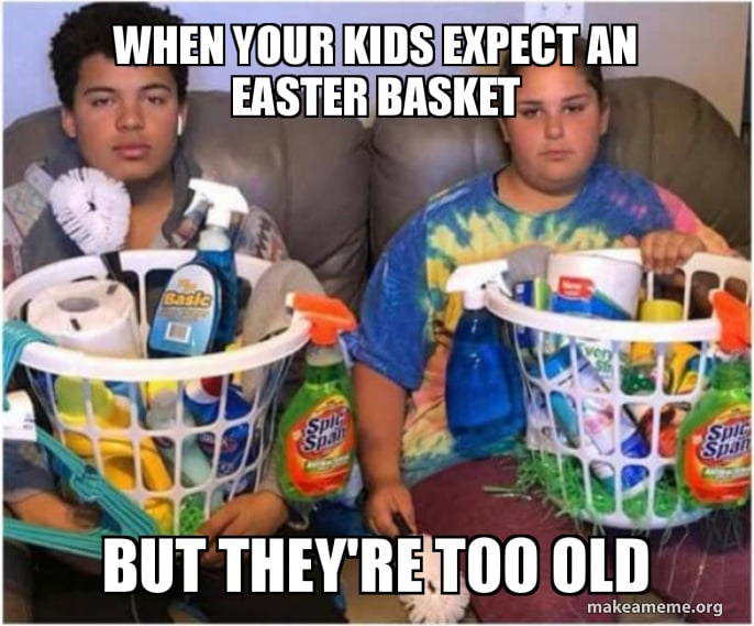When your kids expect an Easter basket but they are too old? - teen easter basket idea