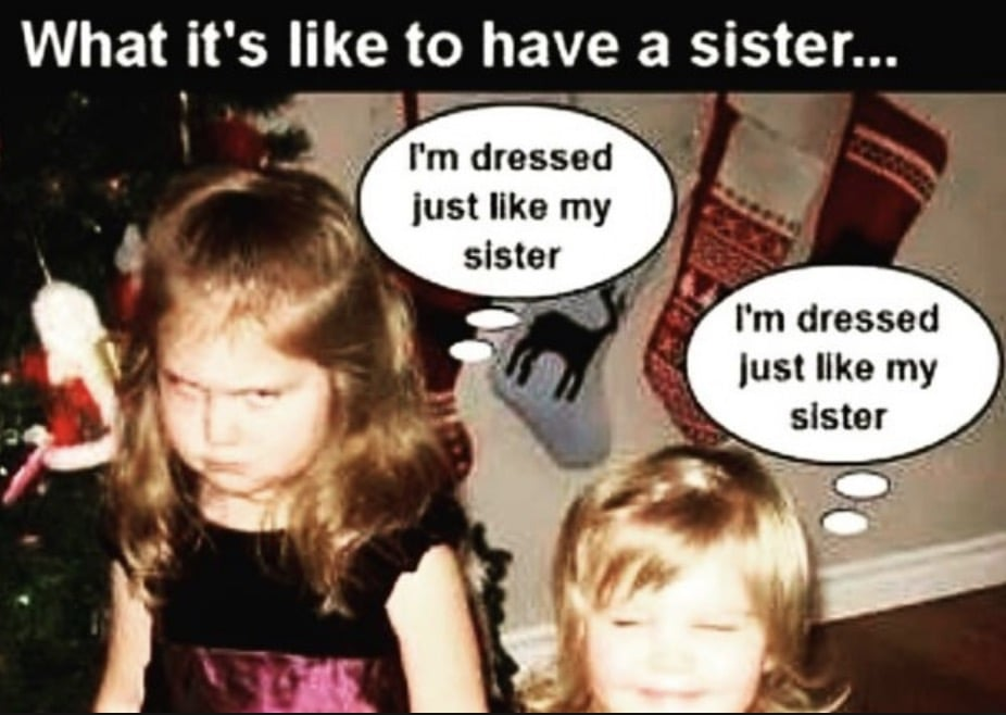 what its like to have a sister meme