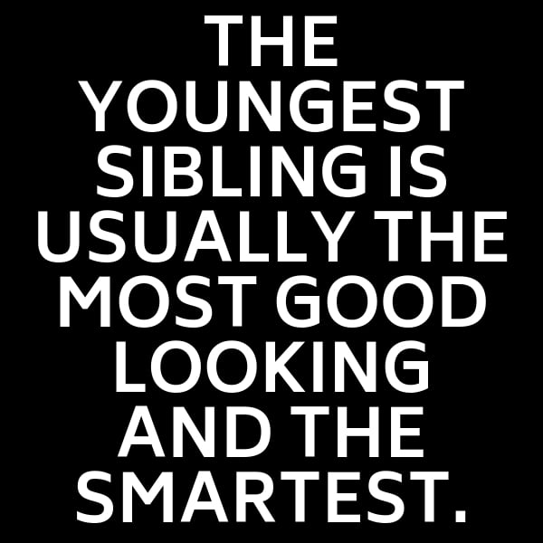 youngest sibling meme