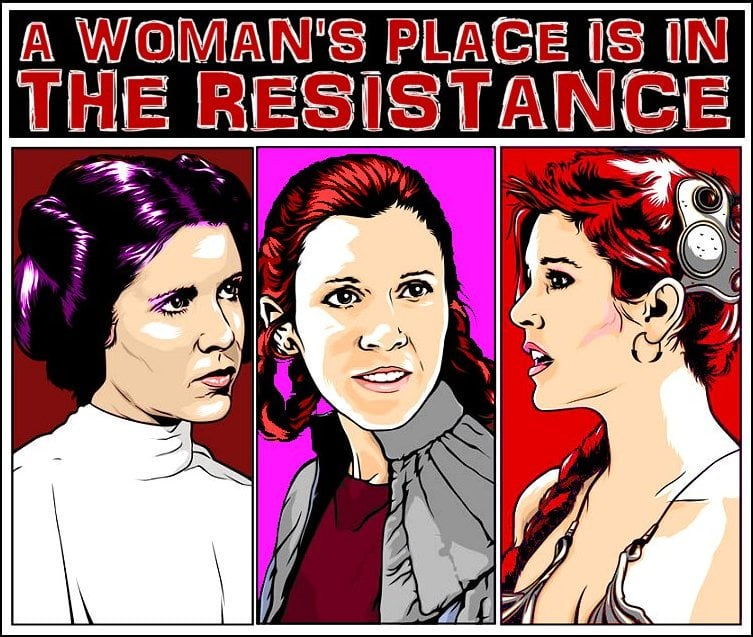 womens place is in the resistance star wars meme