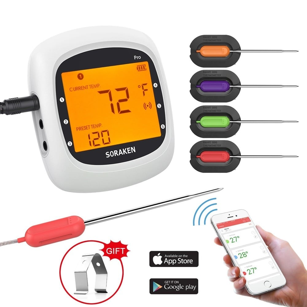 wireless meat thermometer grilling - tech gift for dad 2019 fathers day