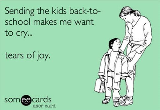 sending the kids back to school makes me want to cry