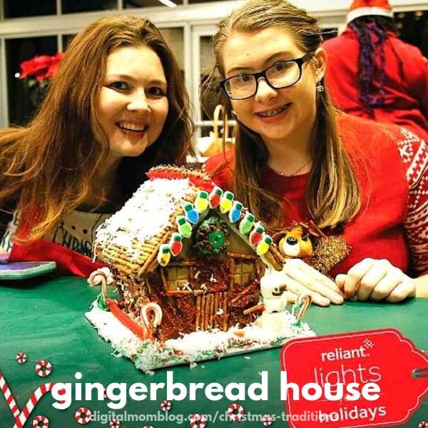 decorating gingerbread house family christmas tradition