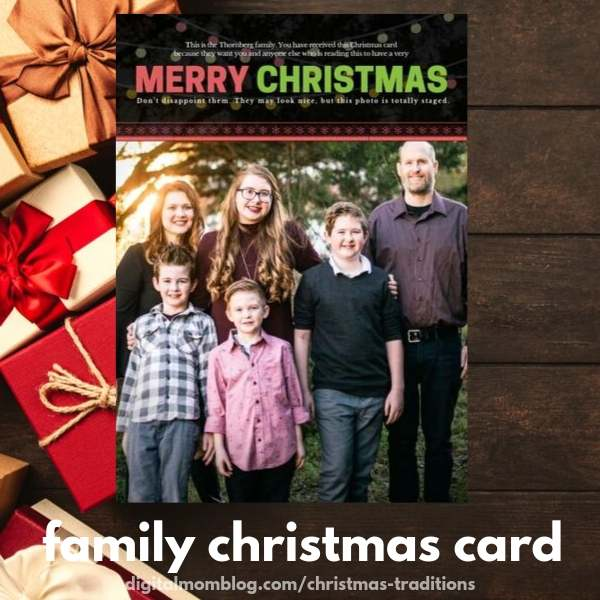 family christmas cards and family photos