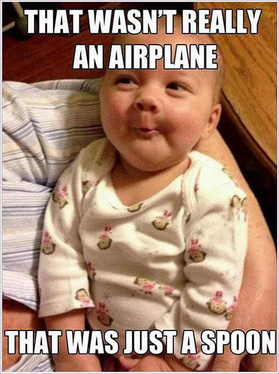 that wasnt an airplane baby meme