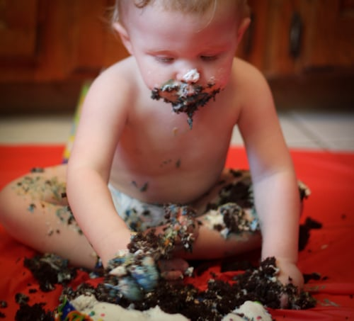 baby cake smashed - smash cakes birthday tradition