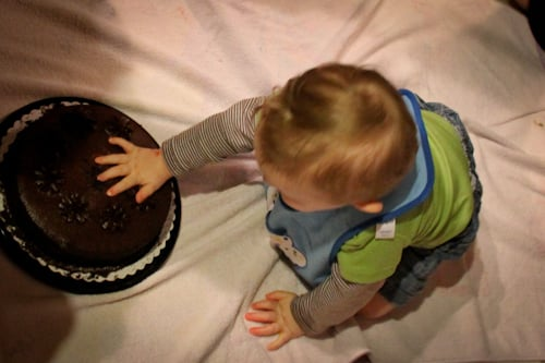 touch baby first cake