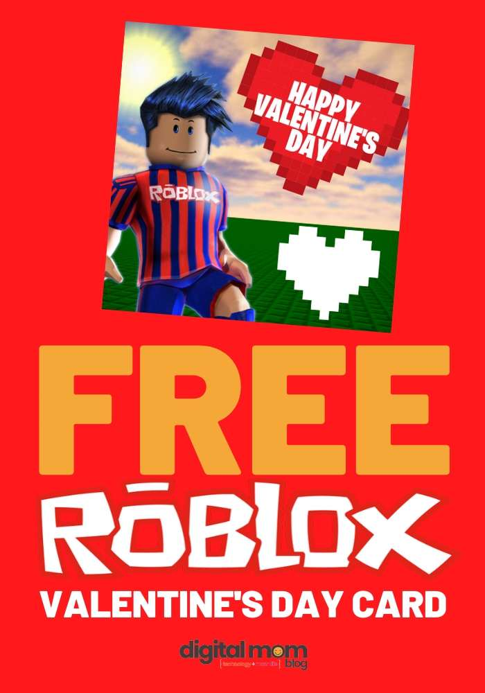 free roblox valentines day card