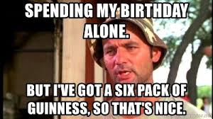 coronavirus birthday alone meme bill murray