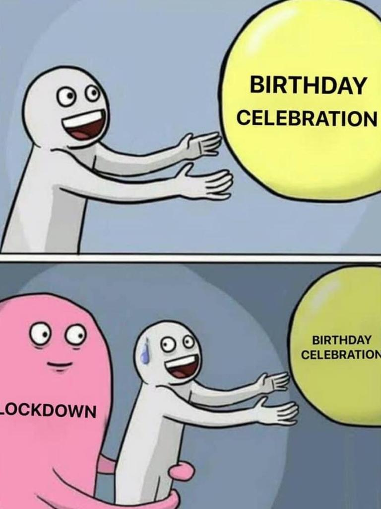 celebrating on lockdown birthday meme