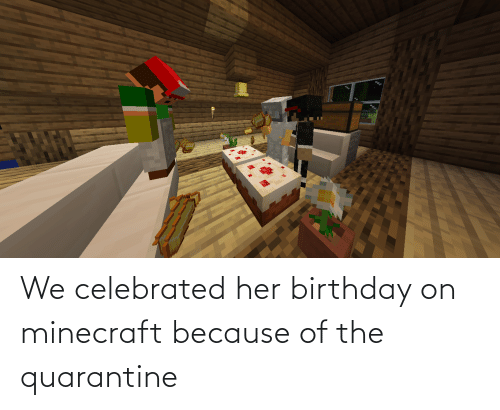 Minecraft Birthday Quarantine meme