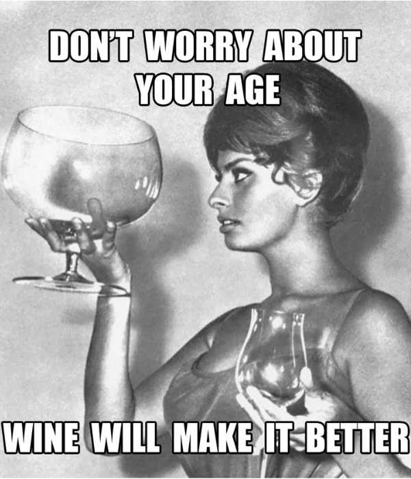 dont worry about your age wine will make it better meme