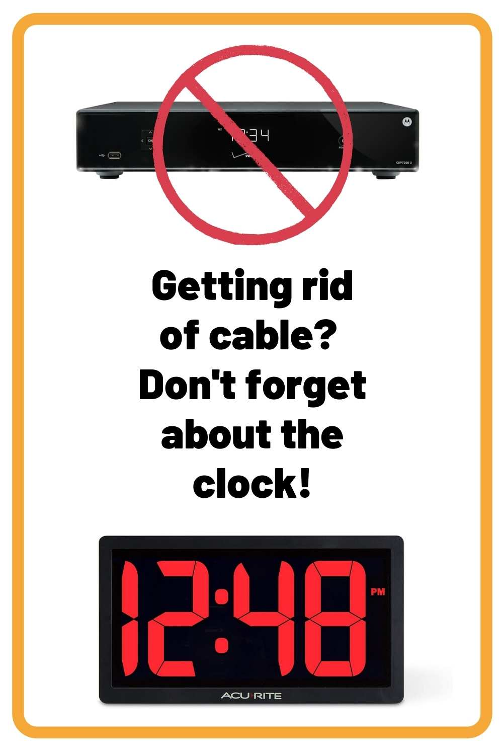 Find a Clock to Replace Your Cable Box Clock