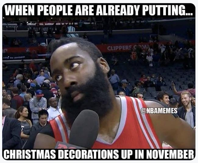 When poeple are putting up Christmas decor in November