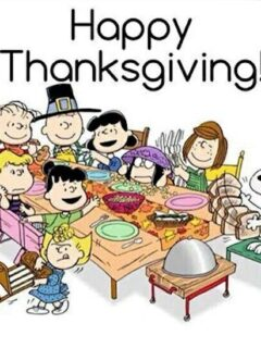 happy thanksgiving charlie brown image