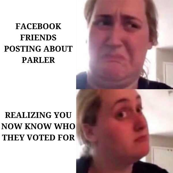 meme about parler users