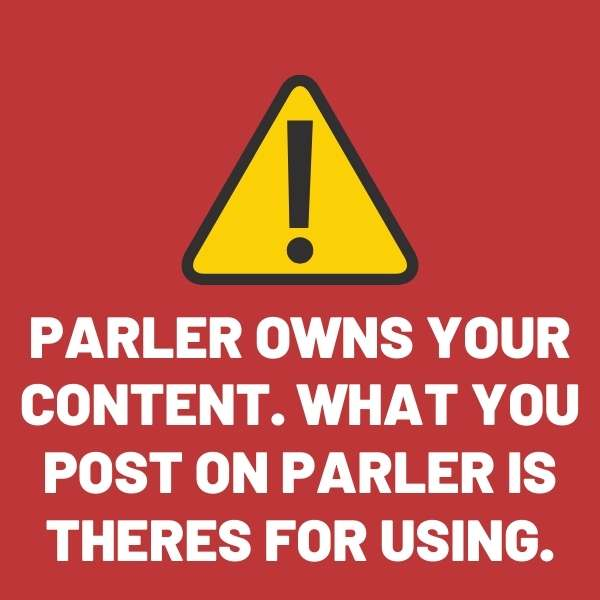 parler owns your content