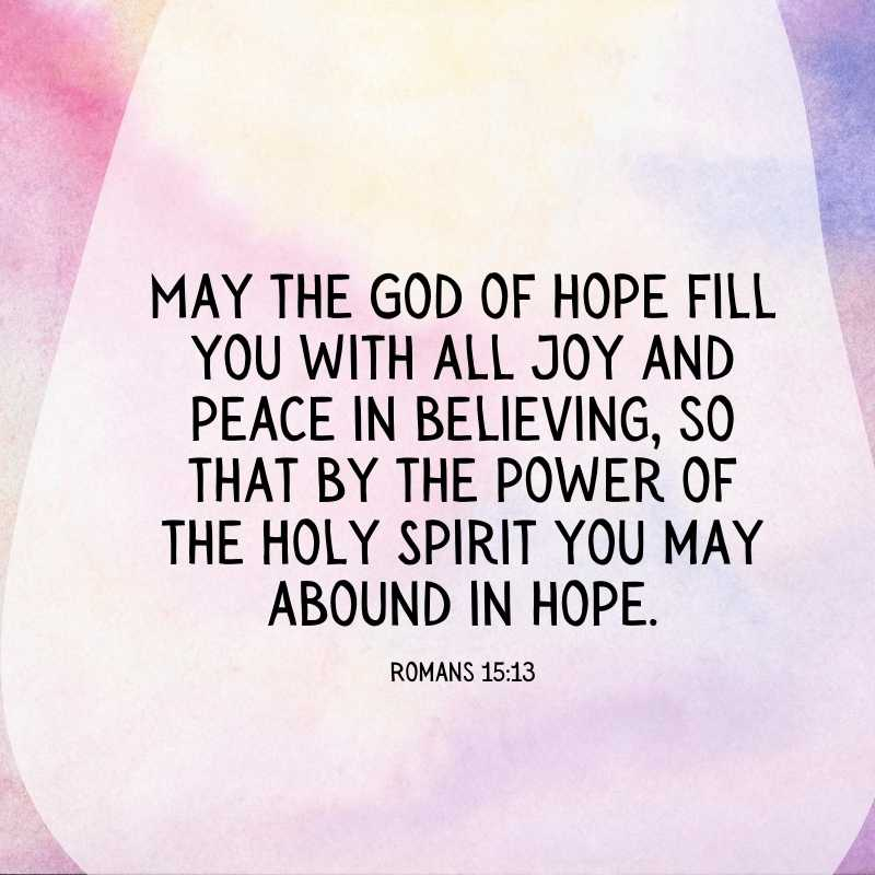 inspirational bible quote about hope