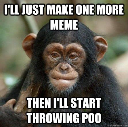throwing poo meme
