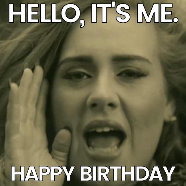 adele happy birthday meme