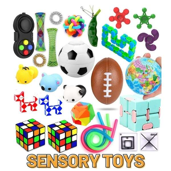 fidgets and sensory toys are awesome for keeping kids occupied