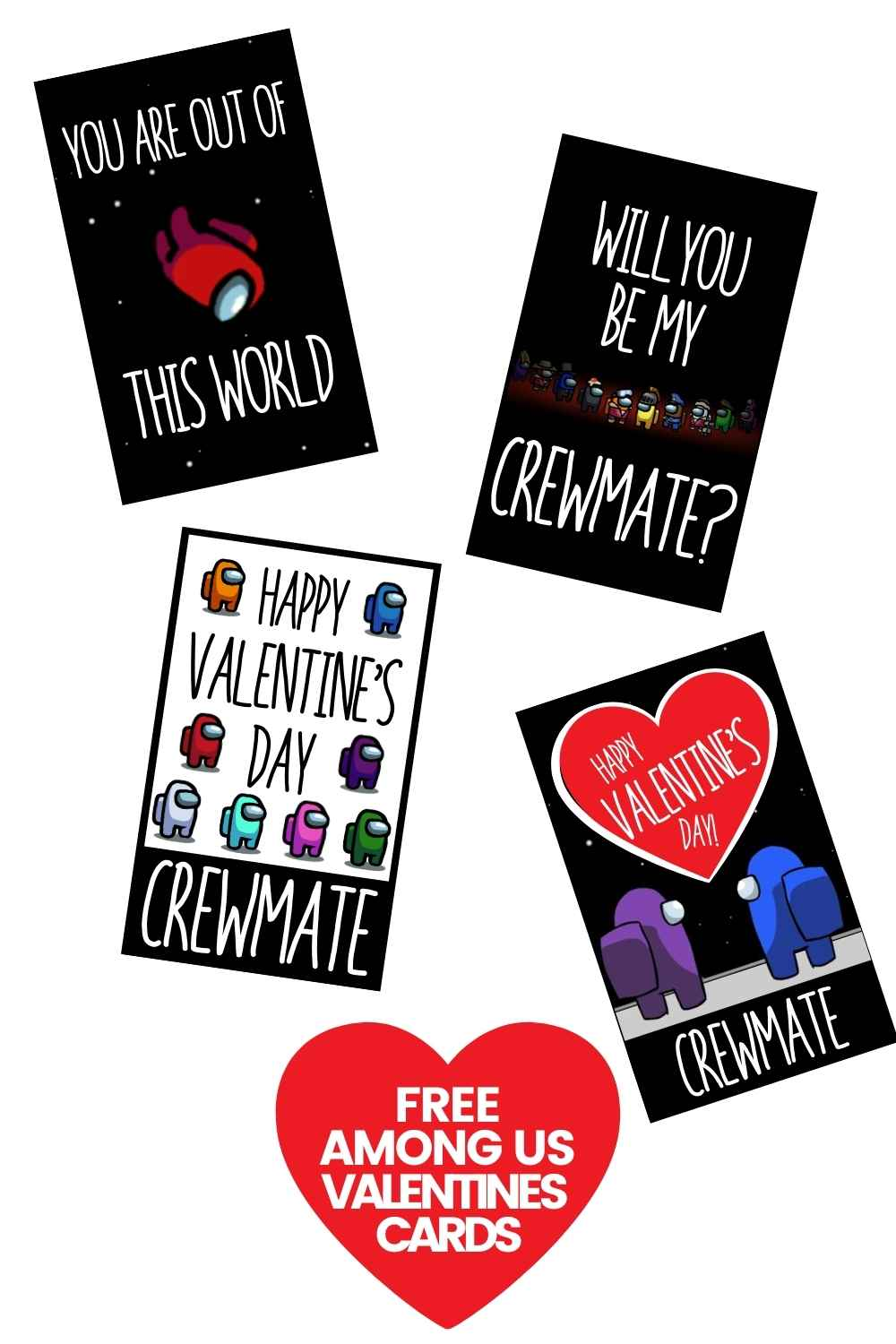 crewmate valentines cards among us