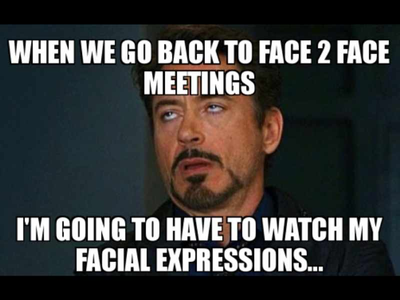 facial expressions meeting zoom meme