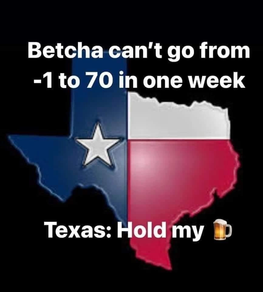 Texas Weather Meme hold my beer