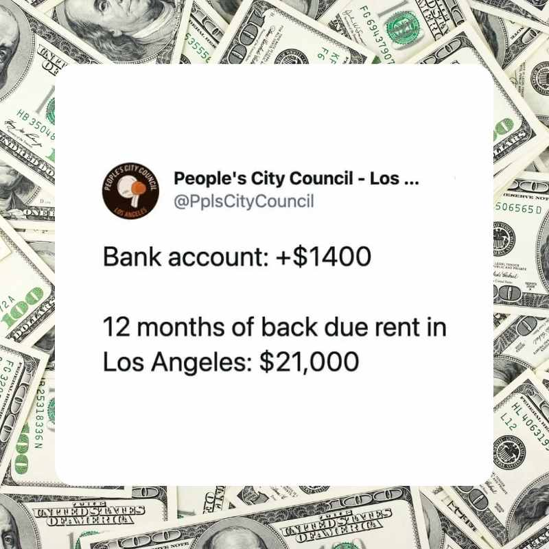 back rent stimulus meme