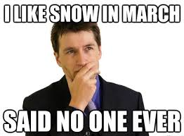 snow in march meme