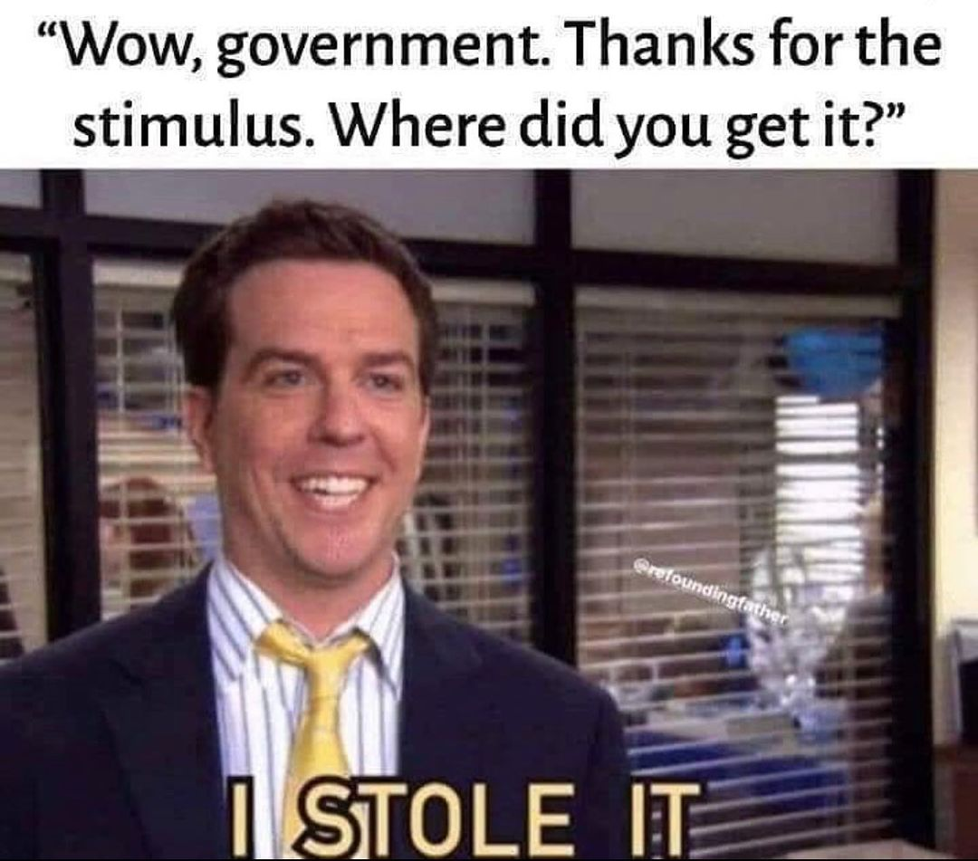 government stimulus meme - thanks where did you get the money