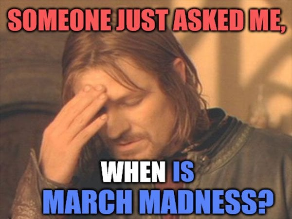 when is march madness meme