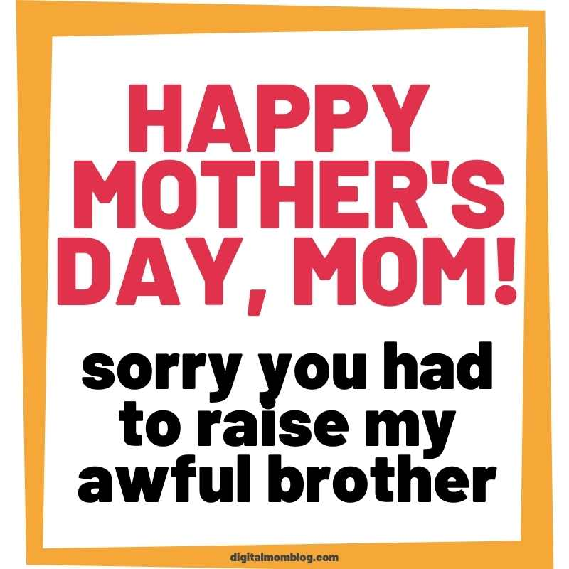 mothers day brother meme