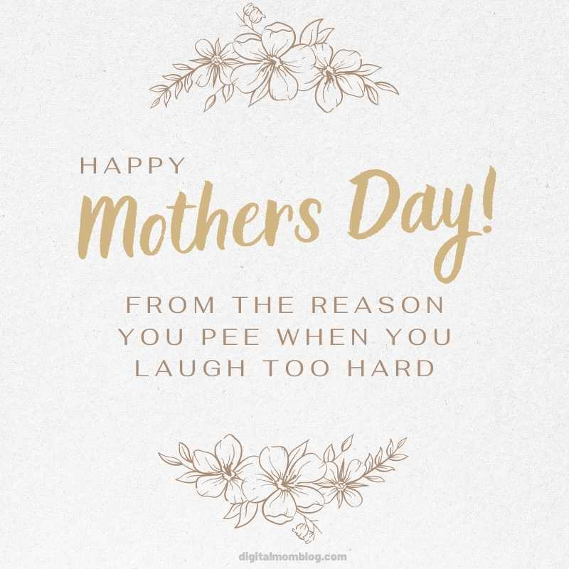 mothers day meme - from the reason you pee when you laugh too hard