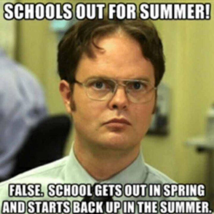 schools out for the summer last day of school memes