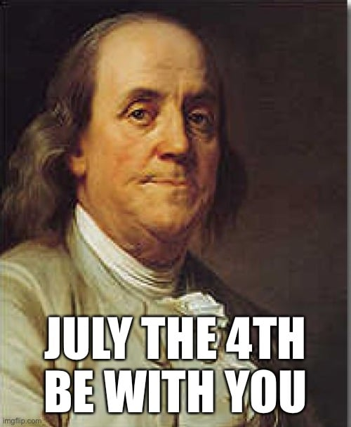 july 4th be with you meme