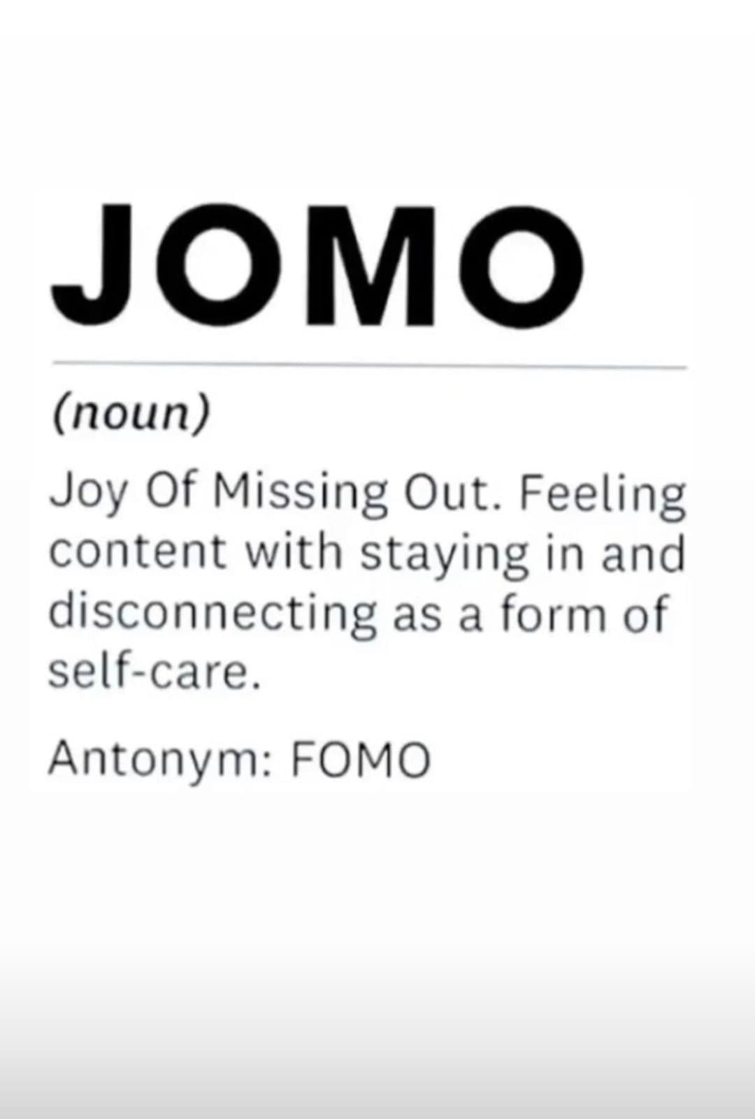 jomo joy of missing out meme introverts