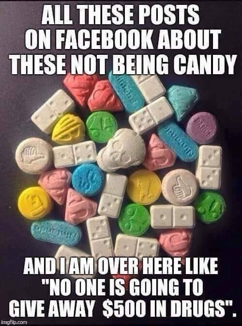 halloween drugs candy trick or treat meme