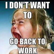 i dont want to go back to work meme