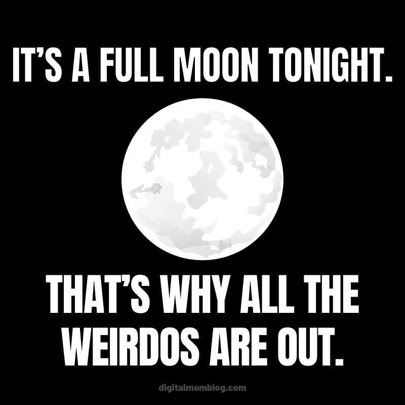 Hocus Pocus Movie Quote: It's a full moon tonight. That's why all the weirdos are out.