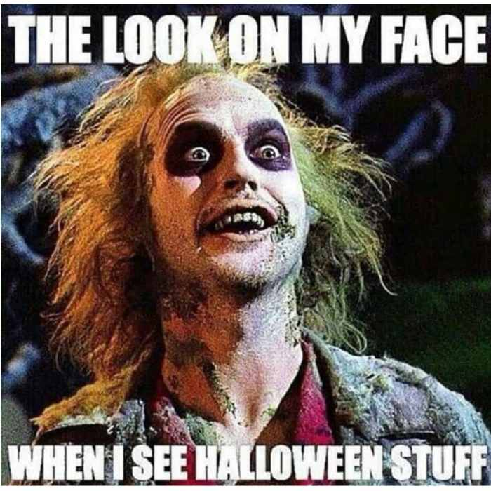 look on my face when i see halloween meme