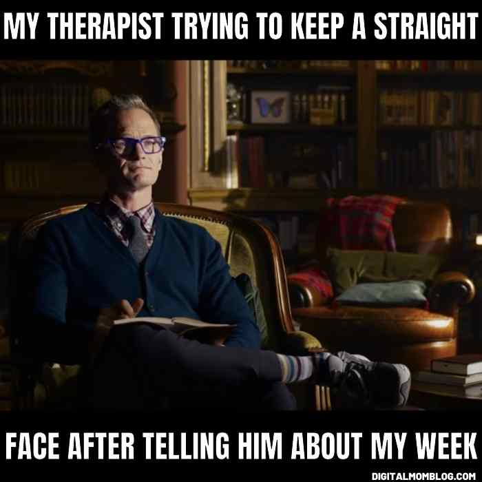 Neil Patrick Harris in Matrix meme - my therapist trying to keep a straight face after telling him about my week