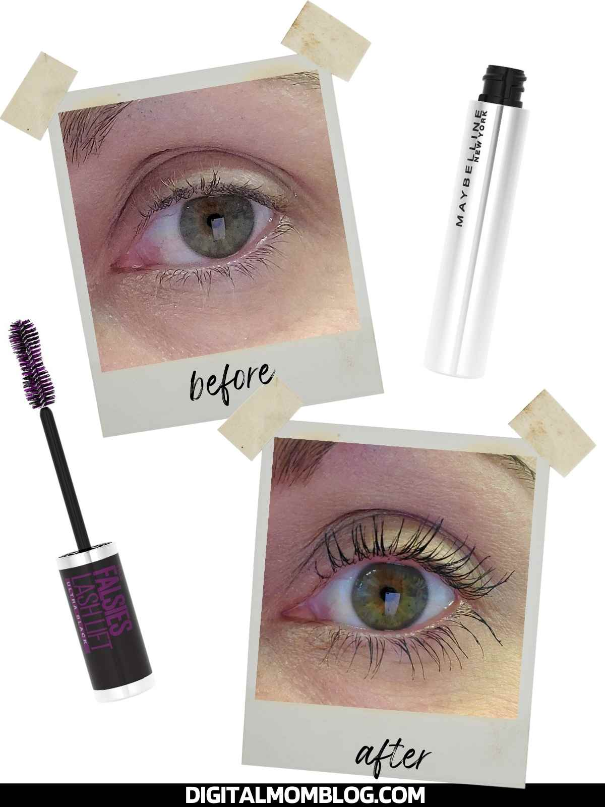 maybelline falsies lash lift mascara before and after photos