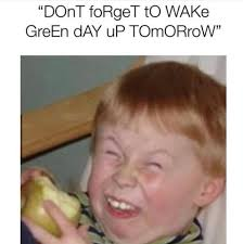 wake up green day meme funny face