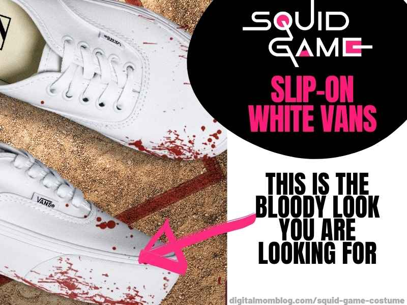 squid game costume bloody shoes