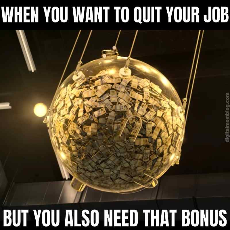 when you want to quit your job bonus check meme squid game